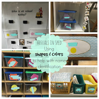 Visuals in a Special Education Classroom