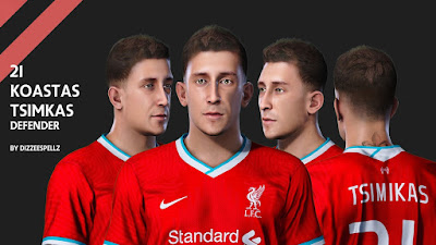 PES 2021 Faces Konstantinos Tsimikas by DizzeeSpellz