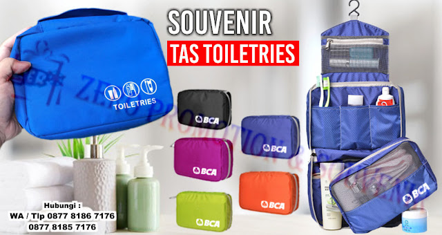 Souvenir Tas Toiletries, Toiletries pouch promosi, Toiletries  Murah, Custom Travel Bag, Souvenir Tas Custom Untuk Seminar & Promosi