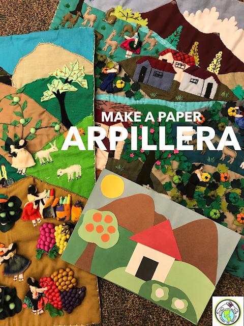 Make a paper arpillera