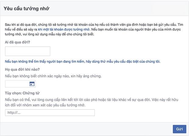 Khi về với cát bụi tài khoản facebook của bạn sẽ ra sao