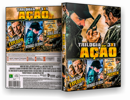 CAPA DVD – Trilogia Ação 3X1 – ISO