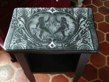 Peindre Une Table De Chevet En Bois. Cours De Peinture Dcorative