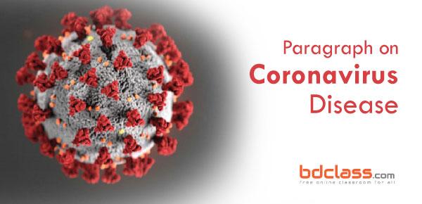 Paragraph writing on Coronavirus