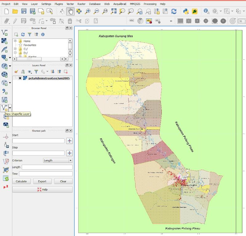 Membuat Peta Baru Dengan Metode On-Screen Digitizing