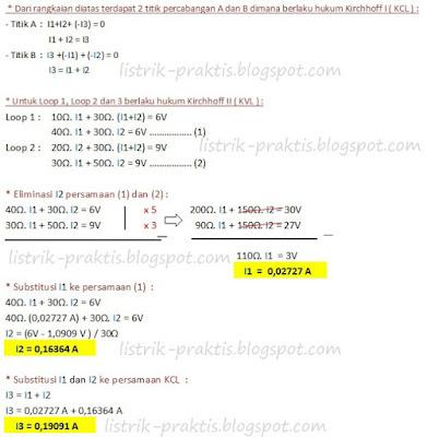 Solusi perhitungan metoda kirchhoff