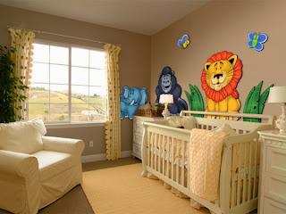 Habitación temática bebé la selva