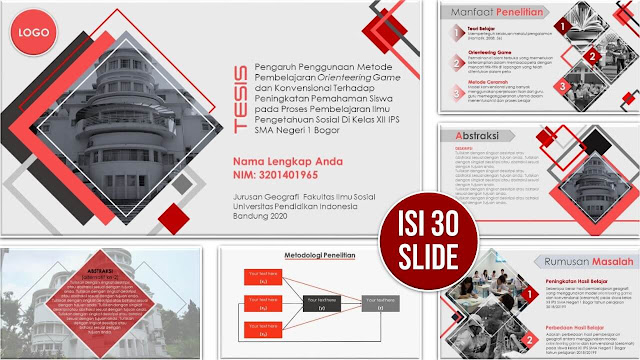 Contoh Slide PPT Sidang Skripsi, Tesis atau Disertasi