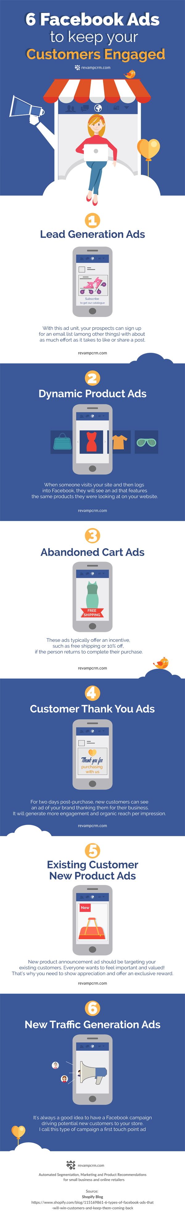 6 Facebook Ads To Keep Your Customer Engaged - #infographic