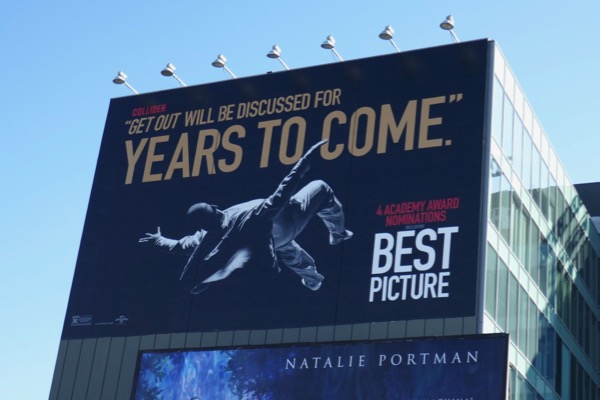 Get Out discussed for years to come Oscar billboard