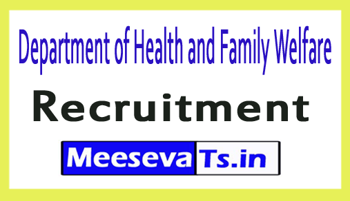 Department of Health and Family Welfare DHFW Recruitment
