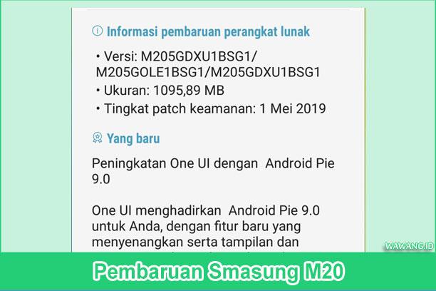 Update Samsung M20 ke Android Pie dan One UI