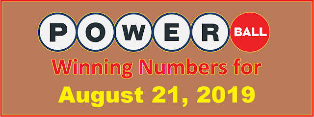 PowerBall Winning Numbers for Wednesday, August 21, 2019