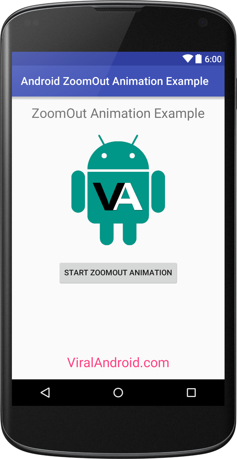 android-zoom-out-animation-example Xamarin Layout Forms Examples on master-detail tablet, identification card, title description stack, gradient stack, android tabs, forms floating button absolute, app header,