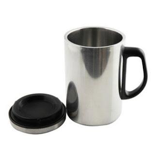 保温、保冷効果ばっちり!ステンレス製マグカップ