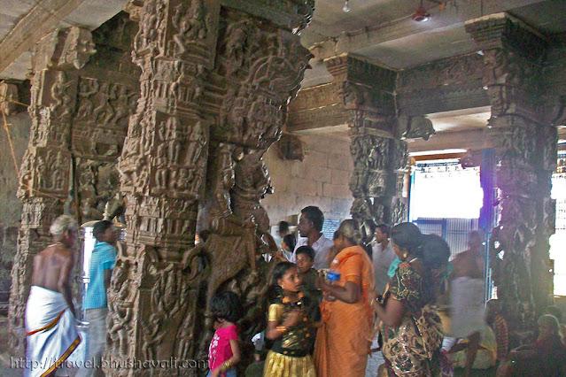 Sriperumbudur Ramanujar Temple Pillar sculptures
