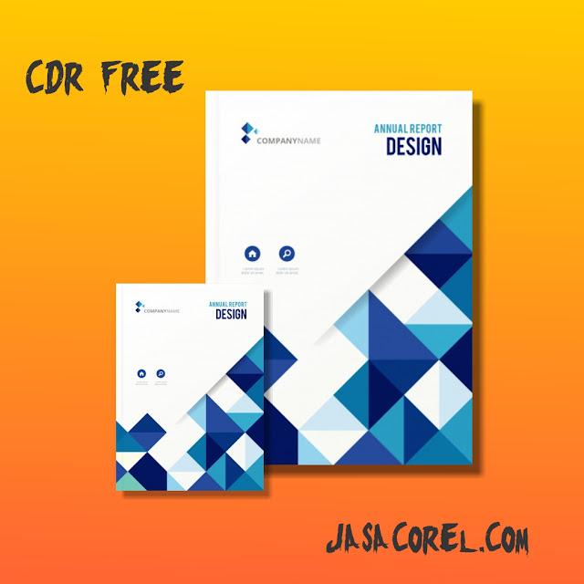 TEMPLATE COVER LAPORAN KERJA CDR FREE