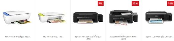Info Daftar Harga Printer Merk Canon Epson dan HP terbaru