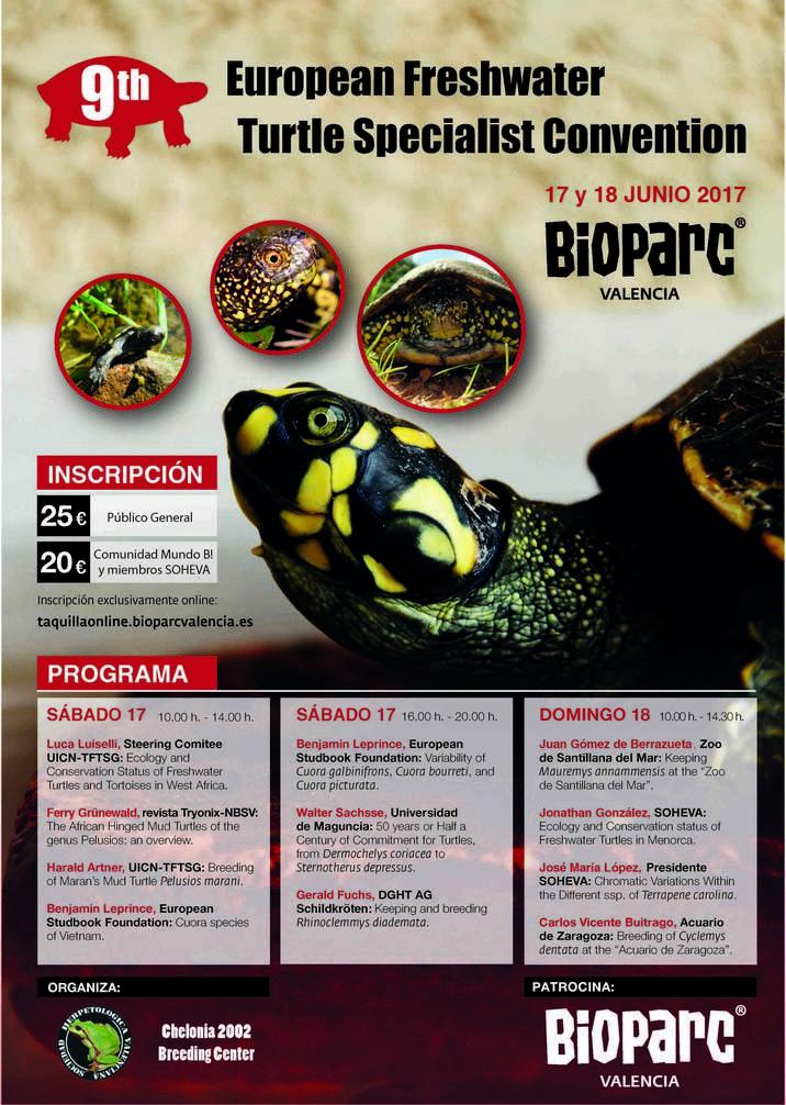 9ª Convención Europea especialistas tortugas agua dulce
