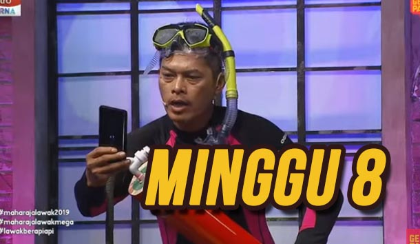 Tonton Maharaja Lawak Mega 2019 Minggu 8 Full MLM.