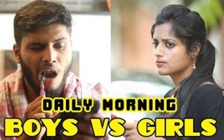 Boys vs Girls: Daily Morning | Shutup Pannunga