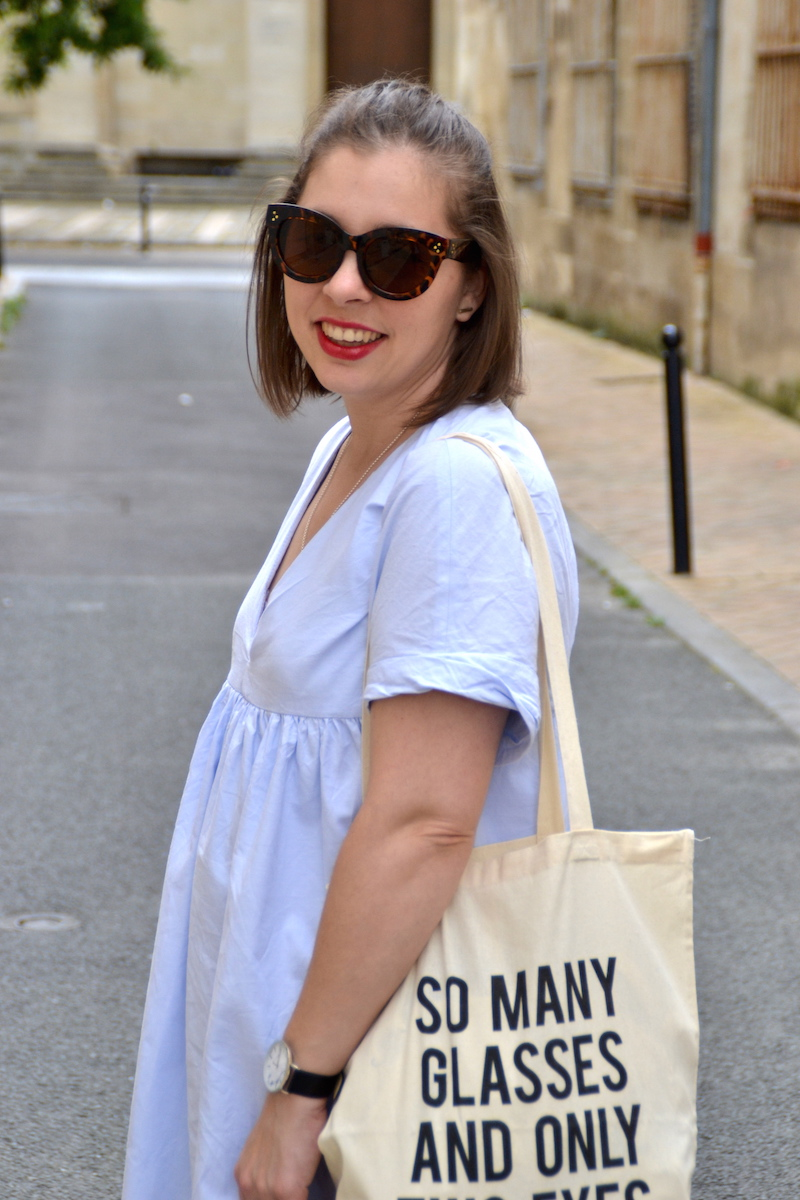 tote bag Jimmy Fairly et combishort bleu Zara