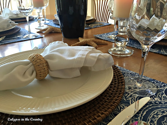 Blue and White Table Setting and other ways I have used blue and white in my home