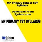 MP Primary School TET Syllabus 2020 - Download PDF