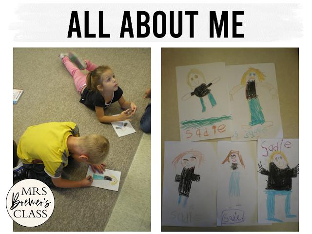 All About Me back to school activities for Kindergarten