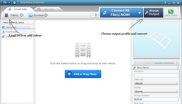 تحميل برنامج تحويل الفيديو مجانا Any Video Converter 6.2.1