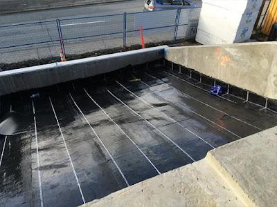 Hasil Aplikasi Waterproofing Membrane