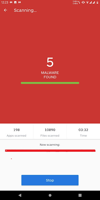 Tampilan Scan Malwarebytes Security: Virus Cleaner, Anti-Malware