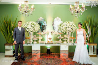 casamento com cerimônia na Assembleia de Deus Educandário em Porto Alegre e recepção no Maison Carlos Gomes com organização projeto e cerimonial de Life Eventos Especiais com decoração sofisticada elegante em verde branco e prata