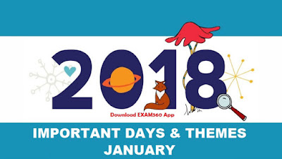 Important Days & Themes in January 2018 PDF