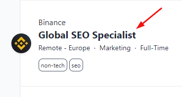 binance jobs