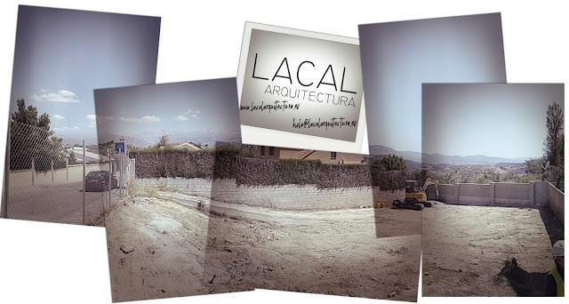 LACAL arquitectura. Javier Ros López, arquitecto. Daniel Cano Expósito, arquitecto. Inicio de obra Vivienda Unifamiliar en Huétor Santillán