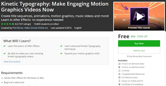 [100% Off] Kinetic Typography: Make Engaging Motion Graphics Videos Now| Worth 50$