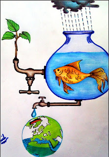 save water drawing images