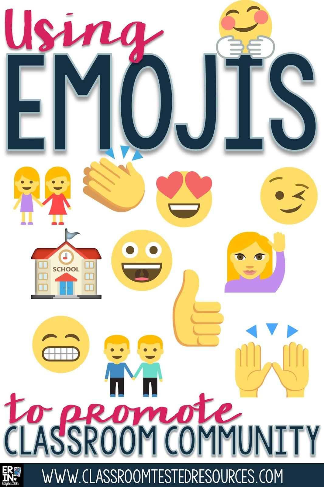 Classroom Decoration Emojis ~ Using emojis to promote classroom community