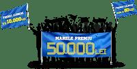 Castiga marele premiu in valoare de 50.000 lei