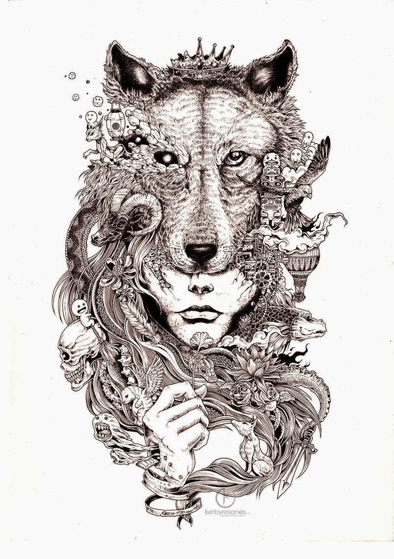 28-Coronation-Kerby-Rosanes-Detailed-Moleskine-Doodles-Illustrations-and-Drawings-www-designstack-co