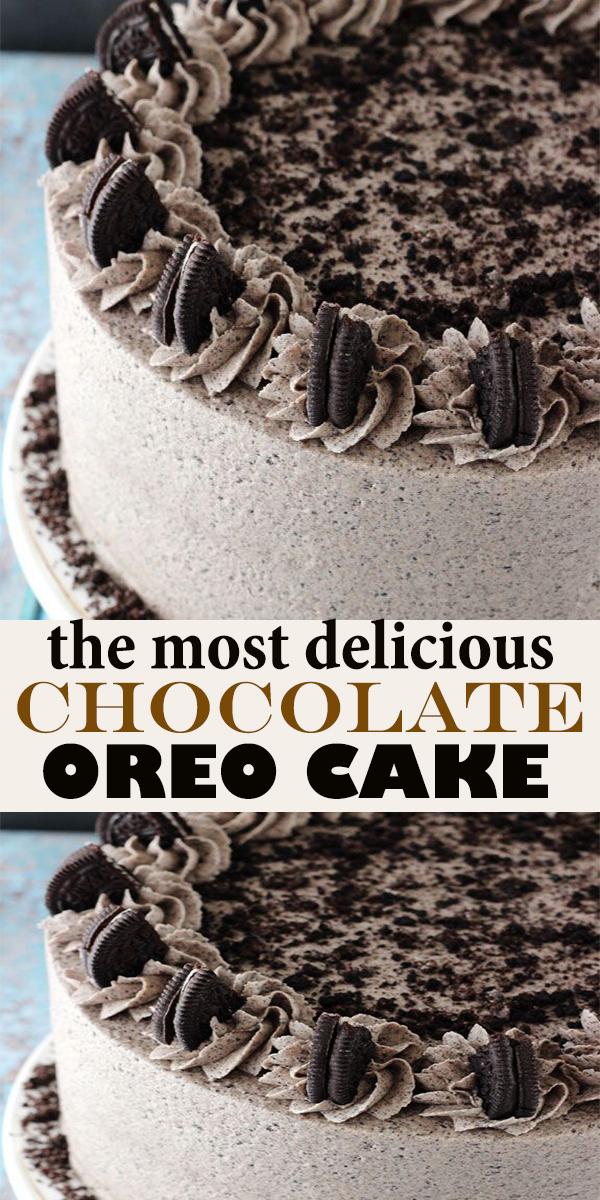 CHOCOLATE OREO CAKE #CHOCOLATE #OREO #CAKE #CHOCOLATEOREOCAKE