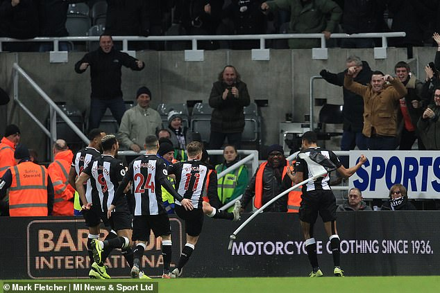 Newcastle fan hit where it hurts by kicked CORNER FLAG after late winner