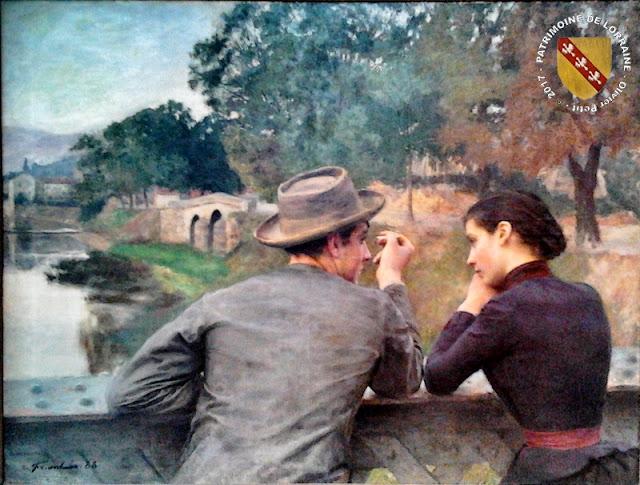 """NANCY (54) - Musée des Beaux Arts : """"Les Amoureux"""" d'Emile Friant (1888)"""
