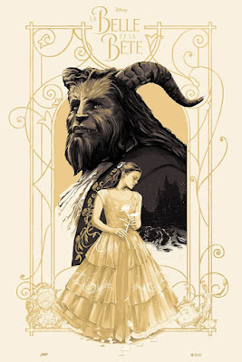 San Diego Comic-Con 2017 Exclusive Beauty and the Beast Variant Screen Print by Oliver Barrett x Mondo