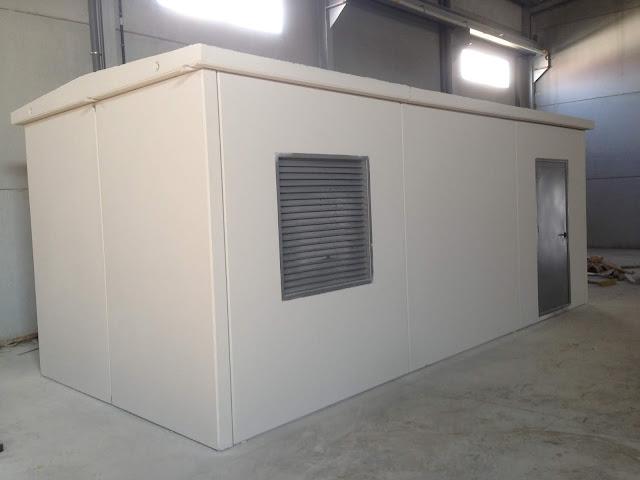 foto de una caseta de hormigón resistente al fuego