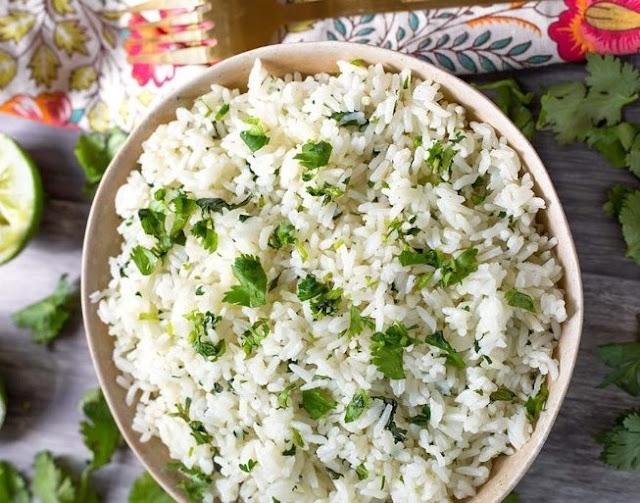 Cilantro Lime Rice #sidedish #vegetarian
