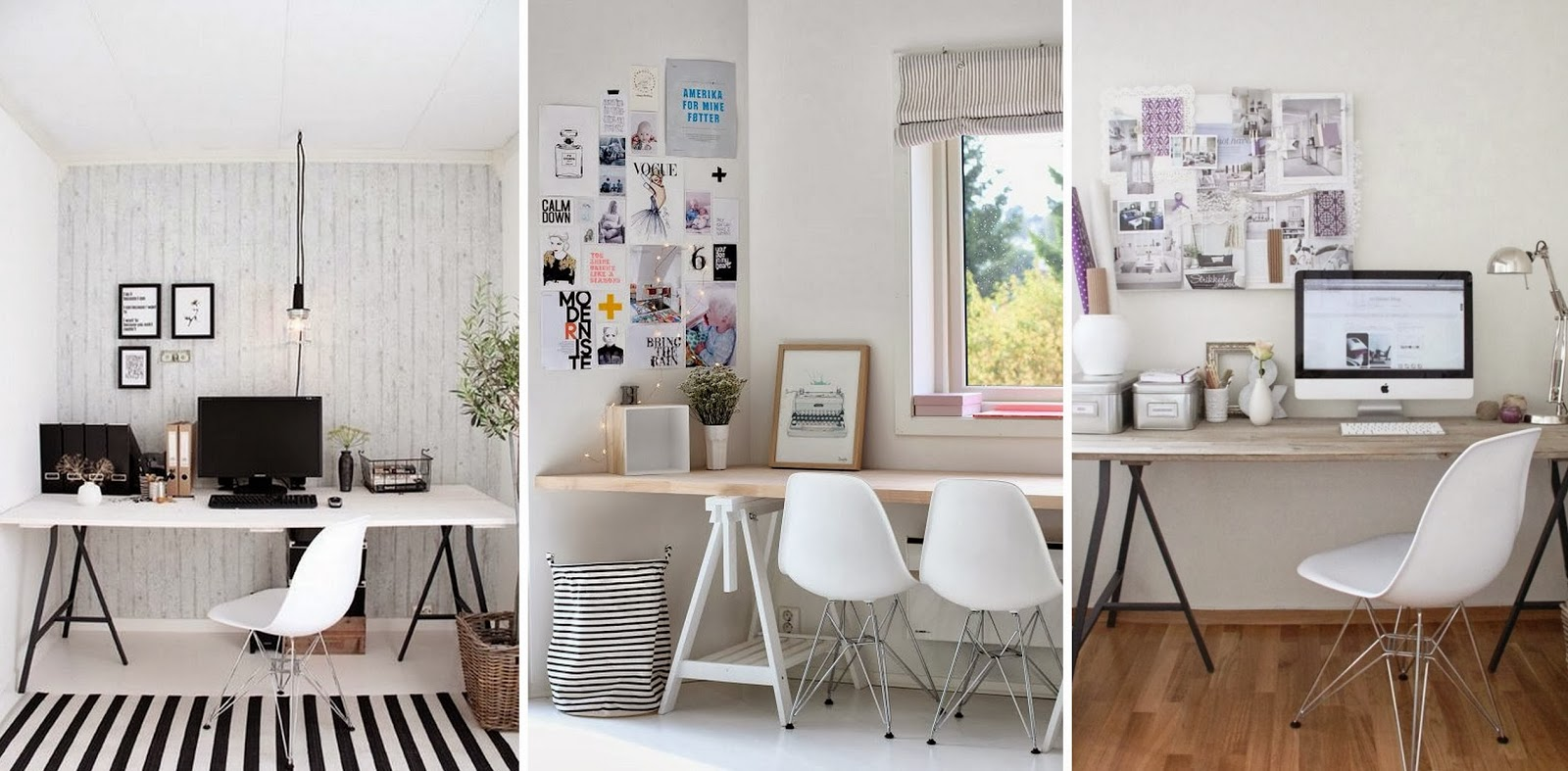 Beautiful Home Office Inspiration: Images { Via }