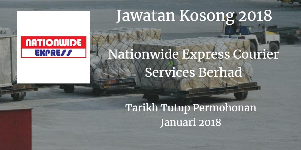 Jawatan Kosong Nationwide Express Courier Services Berhad Januari 2018