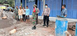 Aparat Gabungan TNI Polri Patroli Prokes Di Kec Pecangaan